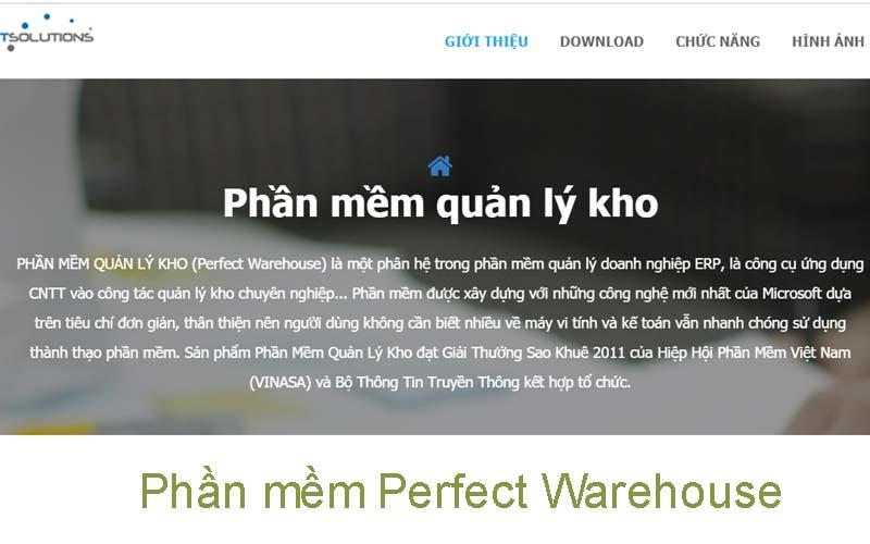 Phần mềm quản lý kho hàng Perfect Warehouse