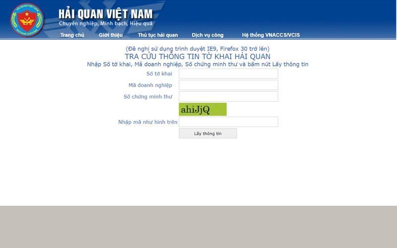 Hướng dẫn tra cứu thông tin tờ khai hải quan online
